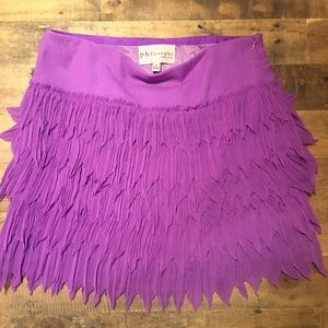 Philosophy Vibrant Purple Layered Mini Skirt